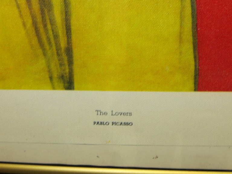 PABLO PICASSO THE LOVERS VINTAGE PRINT For Sale 6