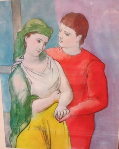 PABLO PICASSO THE LOVERS VINTAGE PRINT
