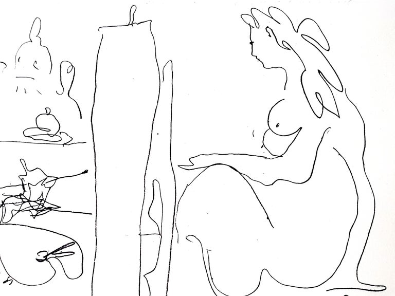 Pablo Picasso - The Painter and His Model - Original Lithograph  - Modern Print by Pablo Picasso