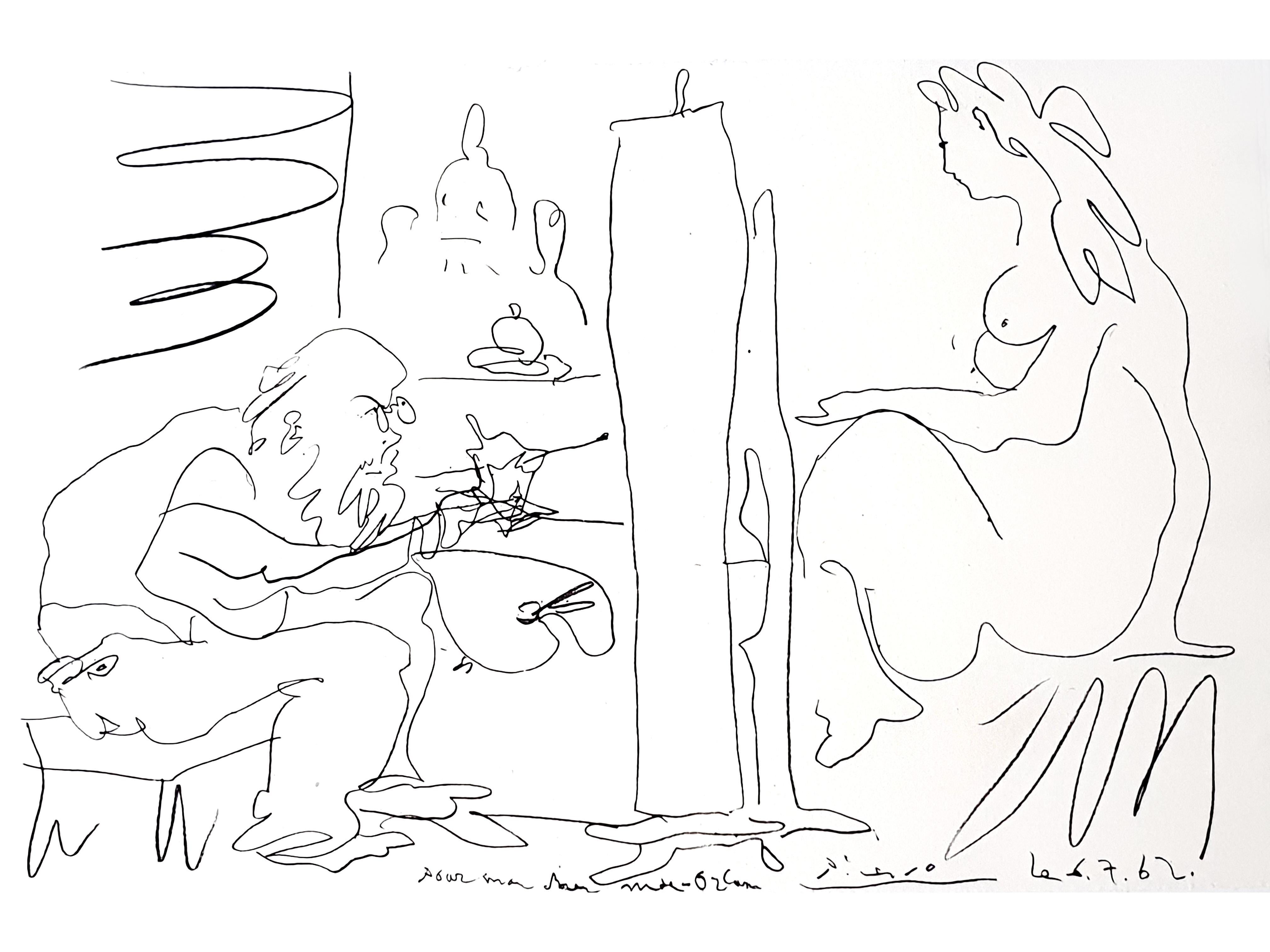 Pablo Picasso - The Painter and His Model - Original Lithograph