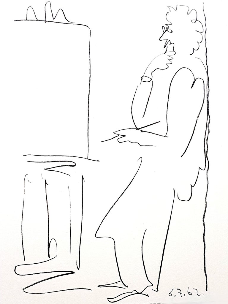 Pablo Picasso - The Painter - Original Lithograph - Print by Pablo Picasso