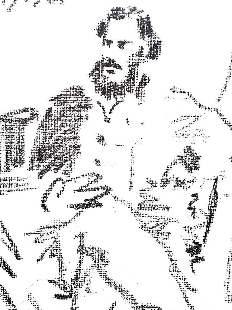 Pablo Picasso - Tolstoï - War and Peace - Original Lithograph - Gray Figurative Print by Pablo Picasso