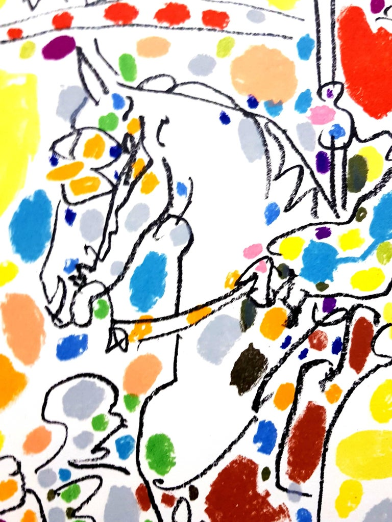 """""""Le Picador II"""" from the book Sabartés - White Figurative Print by Pablo Picasso"""