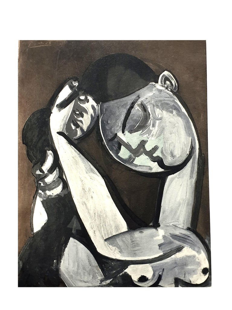After Pablo Picasso - Woman Combing her Hair - Pochoir - Print by After Pablo Picasso