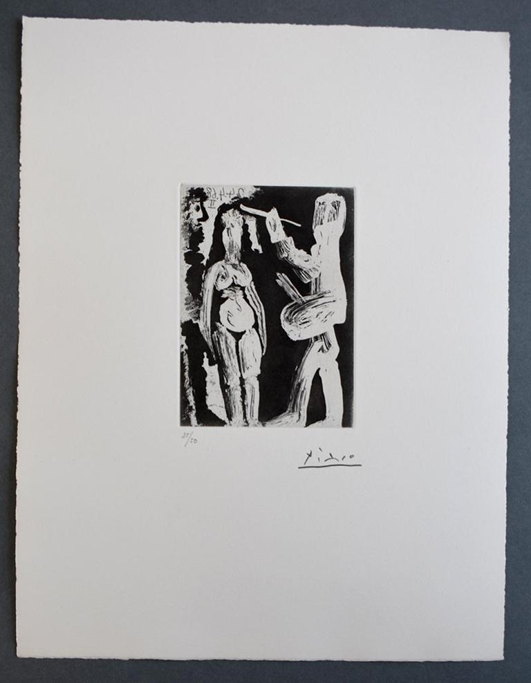 Painter, Model and Viewer, from: Series 347 - French Series, Original print - Print by Pablo Picasso