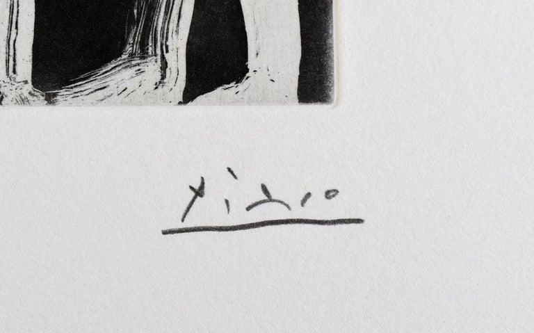 PABLO PICASSO 1881-1973 Málaga 1881- 1973 Mougins (Spanish)   Title: Painter, Model and Viewer, from: Series 347 Peintre, modèle et spectateur, 1968  Technique: Original Hand Signed and Numbered Aquatint on Wove Paper  Paper size: 32.5 x 25.2 cm. /