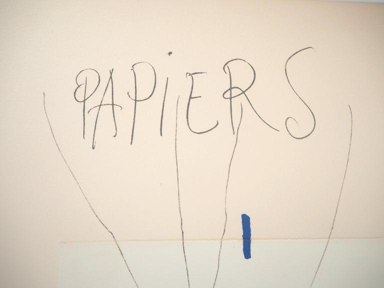 Papiers Collés 1910-1914 - Lithograph #Mourlot - Modern Print by Pablo Picasso