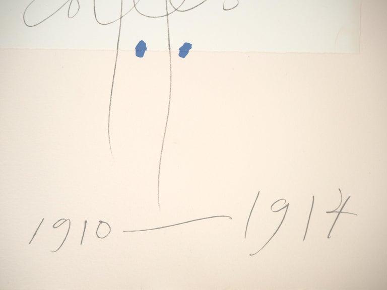 Papiers Collés 1910-1914 - Lithograph #Mourlot - White Figurative Print by Pablo Picasso