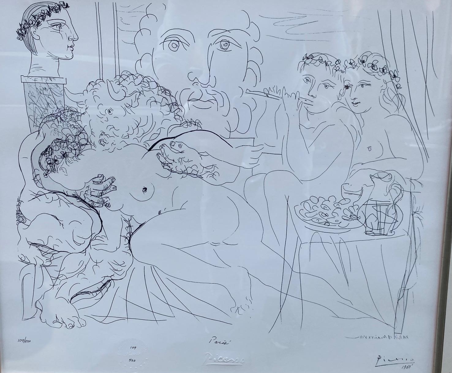 """Paris - from Picasso's largest print series """"347"""" etchings and aquatints, erotic"""