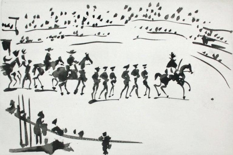 Paseo de Cuadrillas (Ride of the Bullfighting Teams) - Print by Pablo Picasso
