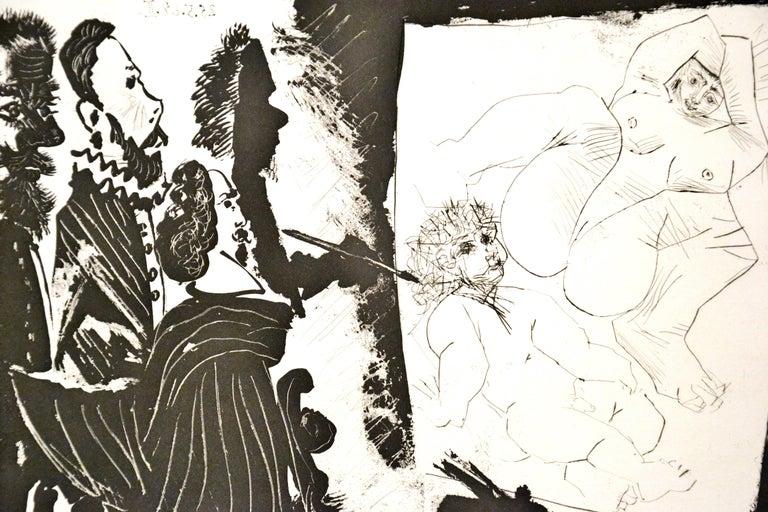Patron et sa Suite en Visite à l'Atelier - Original Etching by P. Picasso - 1968 - Print by Pablo Picasso