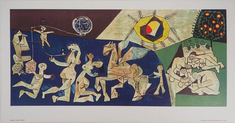 Pablo Picasso Figurative Print - Peace - Offset-lithograph, 1969