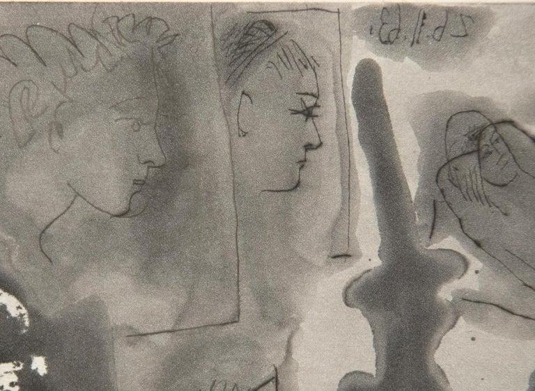 Peintre avec Modele Barbu Assis sur une Chaise For Sale 2