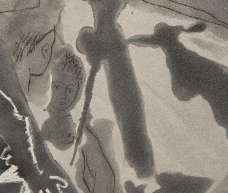 Peintre avec Modele Barbu Assis sur une Chaise For Sale 3
