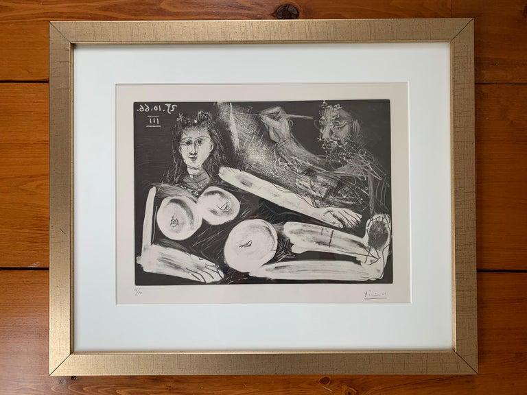 Peintre et Modèle au Collier - Print by Pablo Picasso