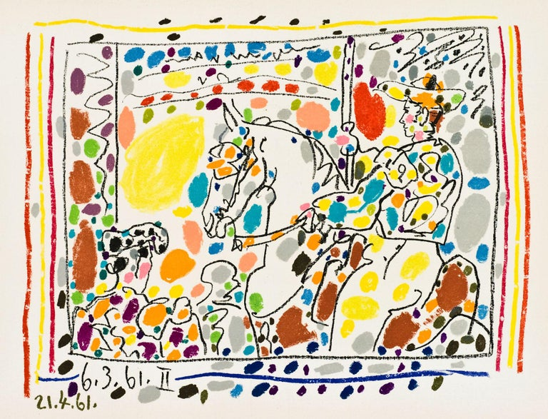 Pablo Picasso Abstract Print - Picador II