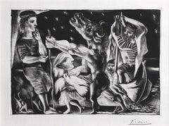 Picasso, Minotaure aveugle guidé par Marie-Thérèse, 1934 Signed Etching
