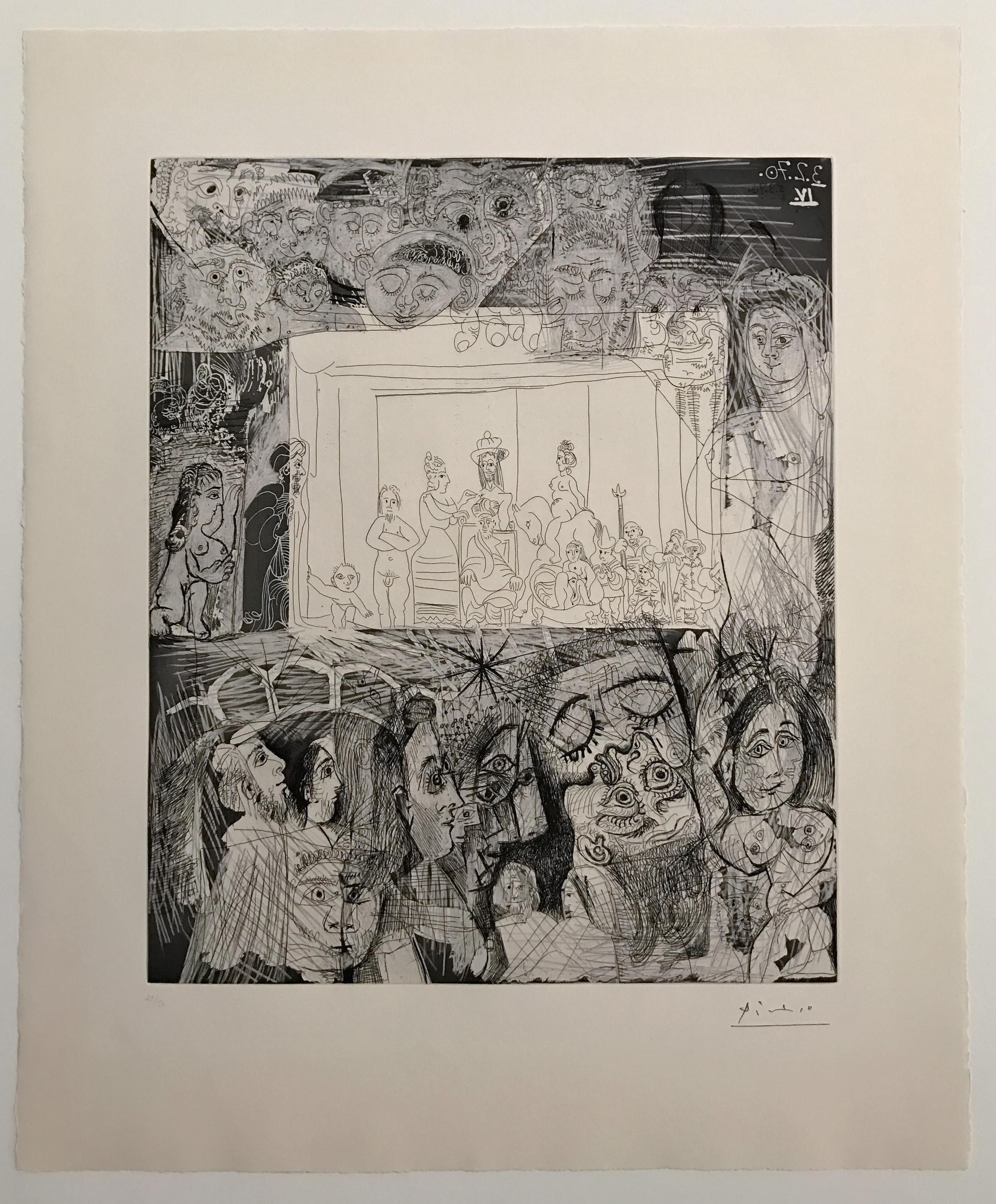 Picasso: Ecce Homo, d'Après Rembrandt