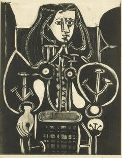 Picasso Femme Au Fauteuil No 4 (d'aprés le violet) (Bloch 588)