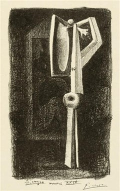 Picasso: Figure.  Baigneuse a la Cabine from 'Le Manuscrit autographe' B96