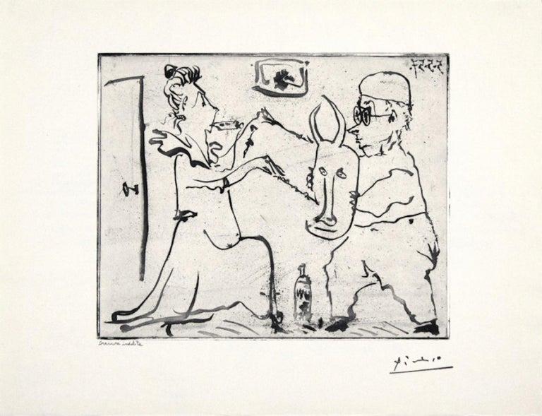 Pablo Picasso Figurative Print - Picasso Histoire de Sabartes et desa Voisine: Les Banderilles