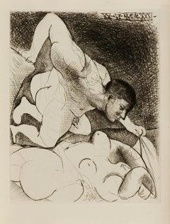 Picasso: Homme dévoilant une femme Bloch 138
