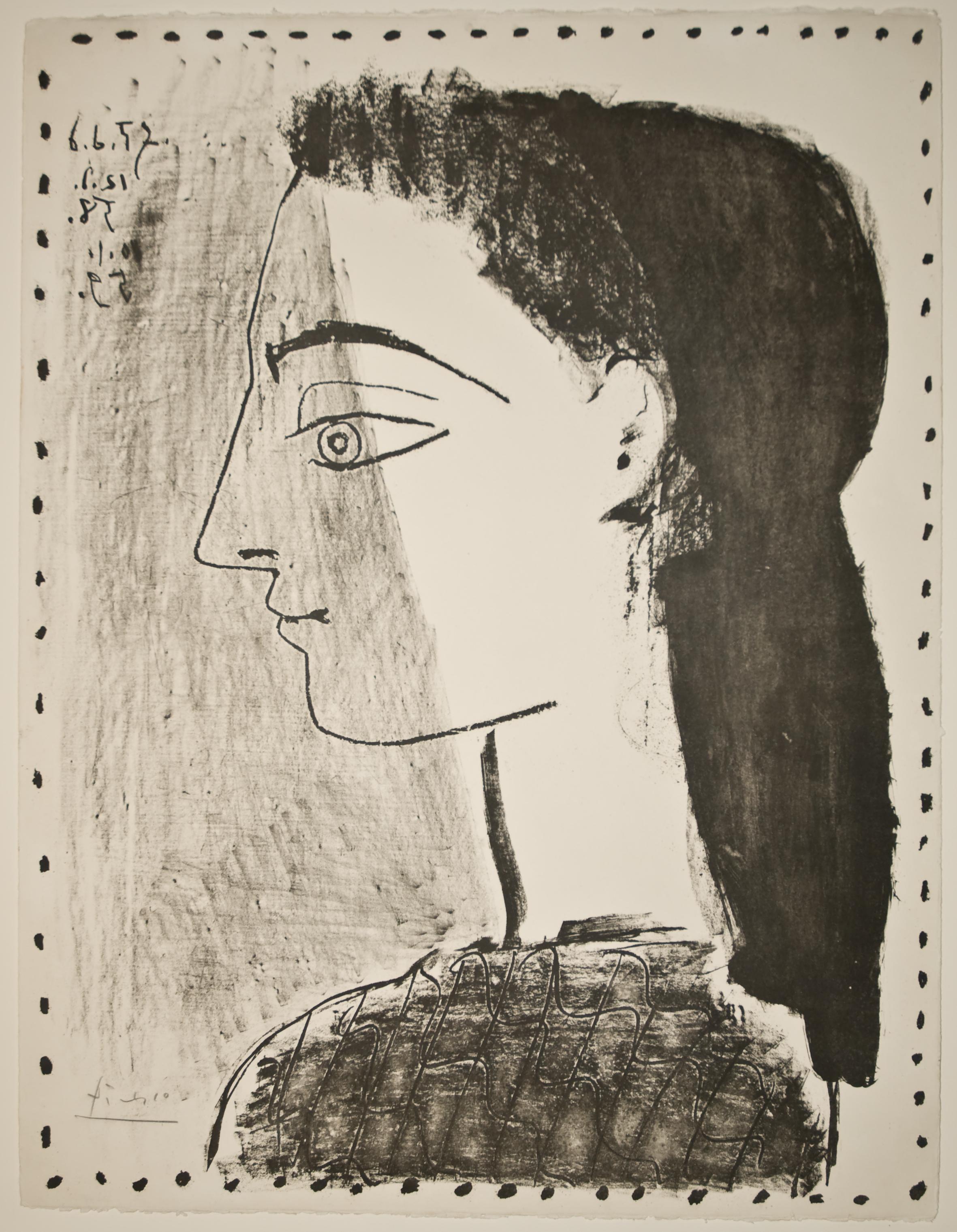 Picasso: Jacqueline au Mouchoir noir (Bloch 874)