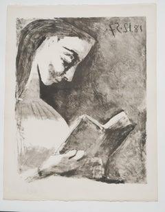 Picasso: Jacqueline lisant