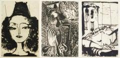 Picasso: La Barre d'appui: three plates