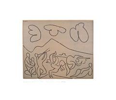 Picasso linocut, Bacchanale (Bloch 927)