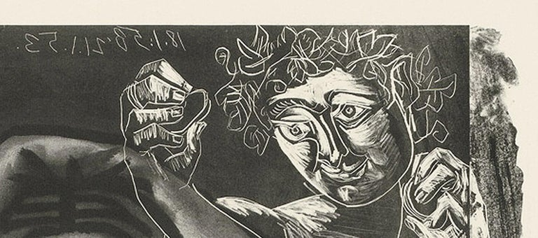 Picasso L'Italienne (d'après le tableau de Victor Orsel) (Bloch 740.2) - Gray Portrait Print by Pablo Picasso