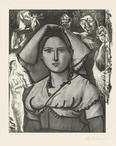 Picasso L'Italienne (d'après le tableau de Victor Orsel) (Bloch 740.2)