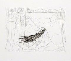 Picasso: Minotaure et Jeune Femme enlacés rêvant sous une Fenêtre (S.V. 91) B199
