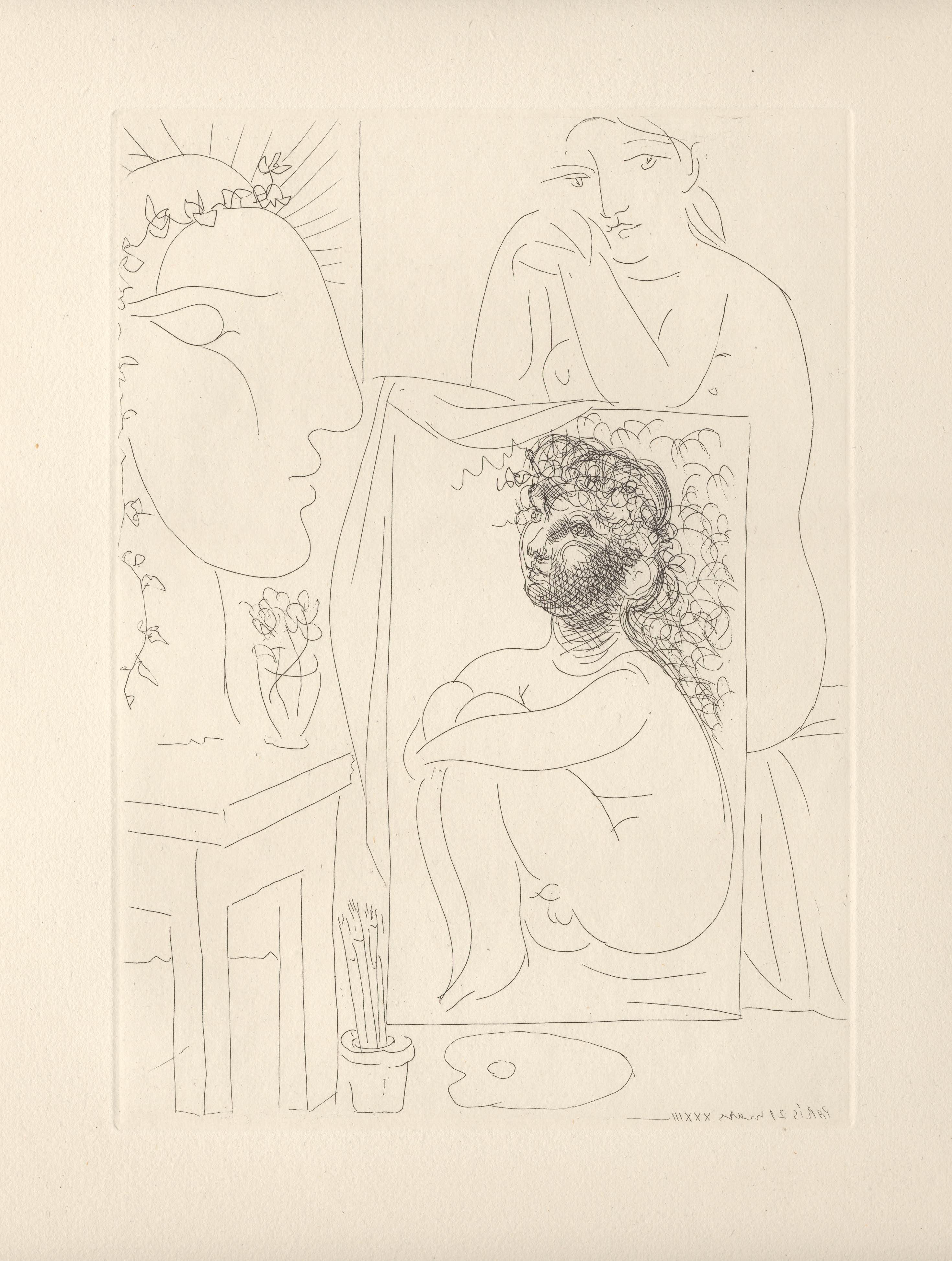 Picasso: Modèle, Tableau et Sculpture (S.V. 43) (Bloch 151)