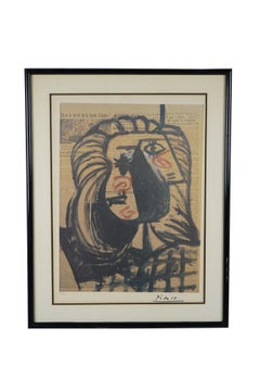 Picasso Portrait  Original Lithograph