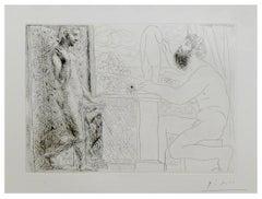 Picasso: Sculpteur travaillant sur le Motif avec Marie-Thérèse posant (S.V. 59)