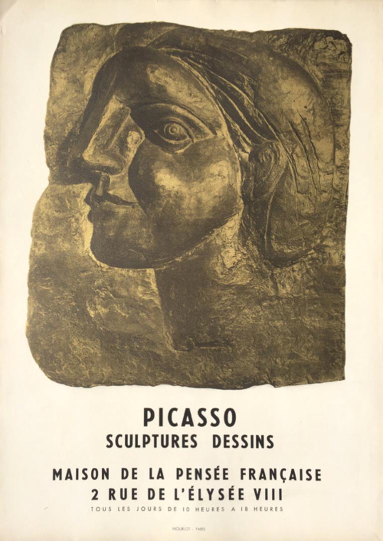 Pablo Picasso Portrait Print - Picasso Sculptures Dessins