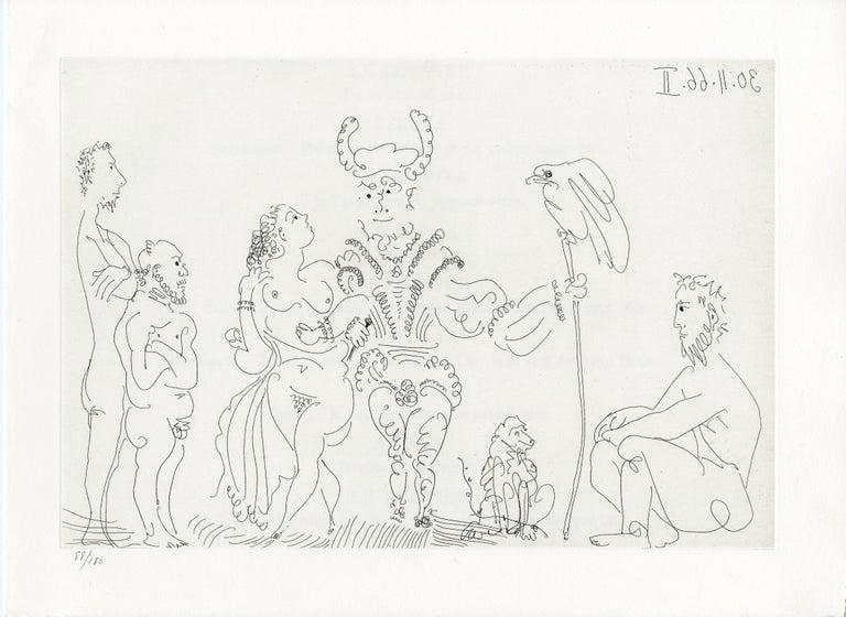 Pablo Picasso Abstract Print - Plate I, Le Cocu Magnifique