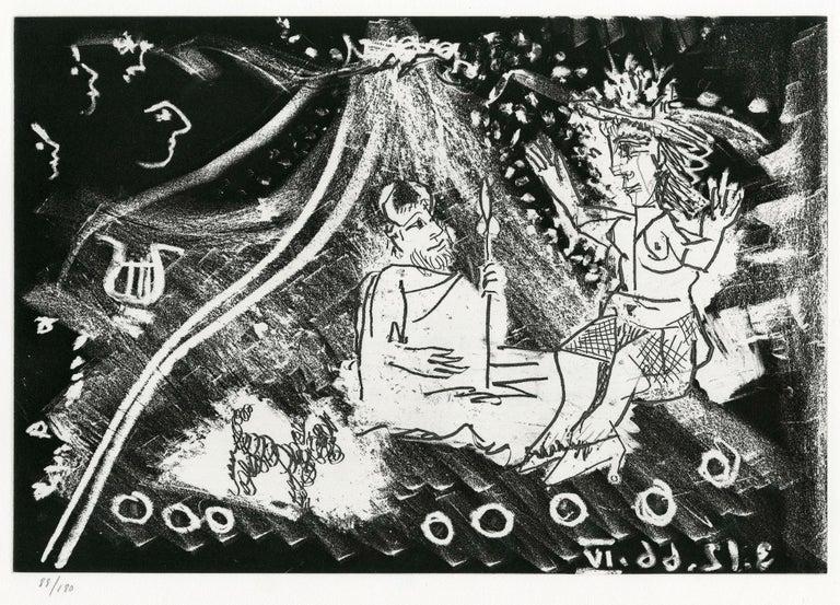 Pablo Picasso Nude Print - Plate IV, Le Cocu Magnifique