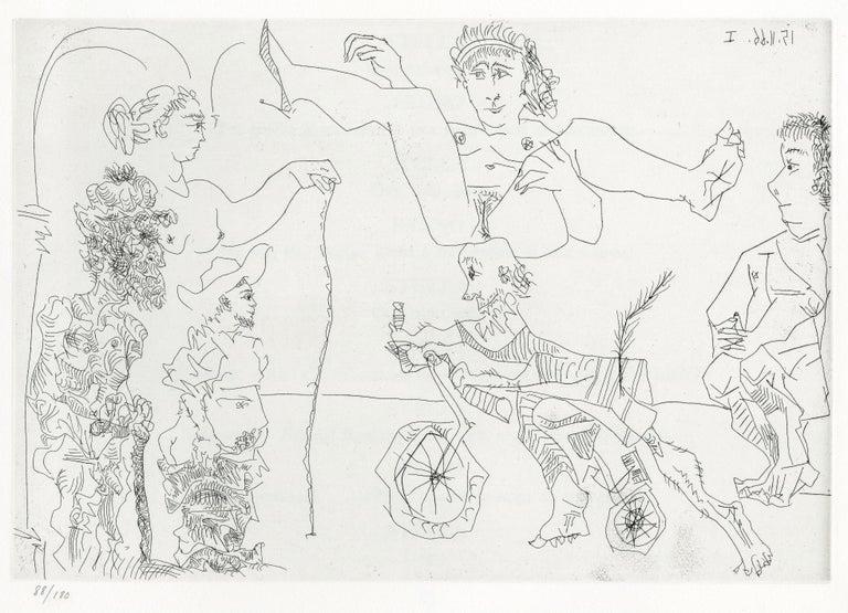 Pablo Picasso Nude Print - Plate V, Le Cocu Magnifique