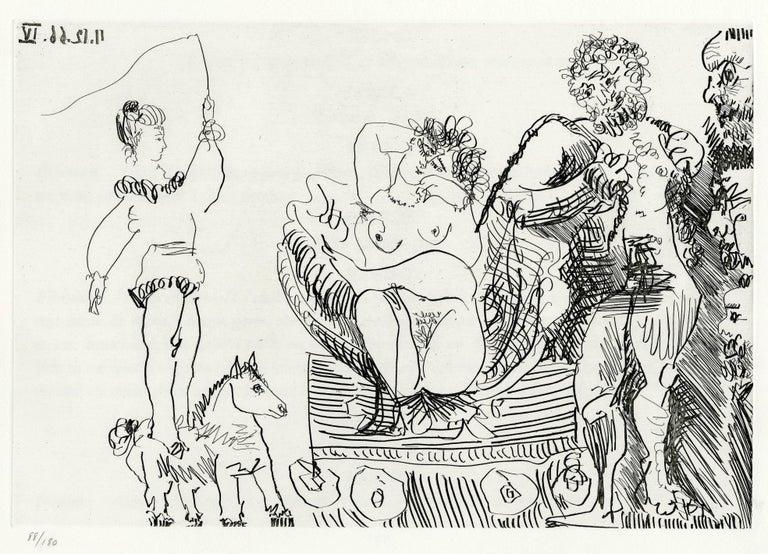 Pablo Picasso Figurative Print - Plate VII, Le Cocu Magnifique