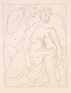 Polyxène, Fille de Priam, est égorgée sur la Tombe d'Achille