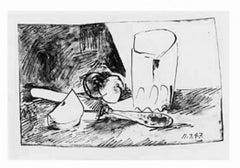 Pommes, Verre et Couteau, Pablo Picasso