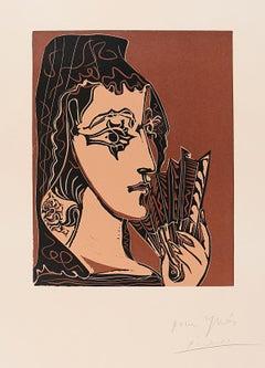 Portrait de Jacqueline en Carmen (L'Espagnole)