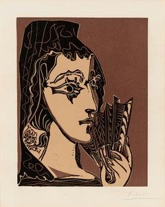 Pablo Picasso: Portrait de Jacqueline en Carmen (L'Espagnole)