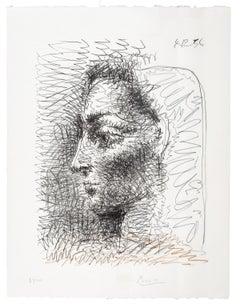Portrait de Jacqueline - Pablo Picasso, Portrait, Lithograph
