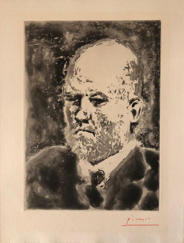 Pablo Picasso Abstract Print - Portrait de Vollard III