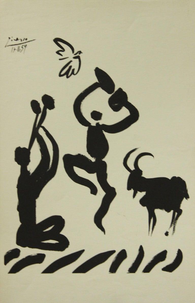 Pablo Picasso Portrait Print - Poster-Goat Dance (Reproduction)