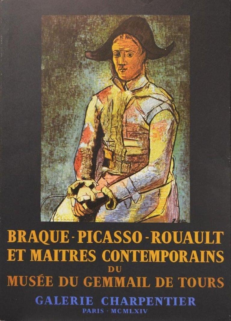 Pablo Picasso Portrait Print - Poster (Reproduction)-Braque-Picasso-Rouault: Et Maitres Contemporains.