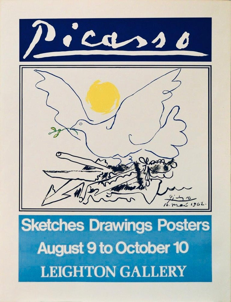 Pablo Picasso Animal Print - Poster (Reproduction)-Sketches, Drawings, Posters.